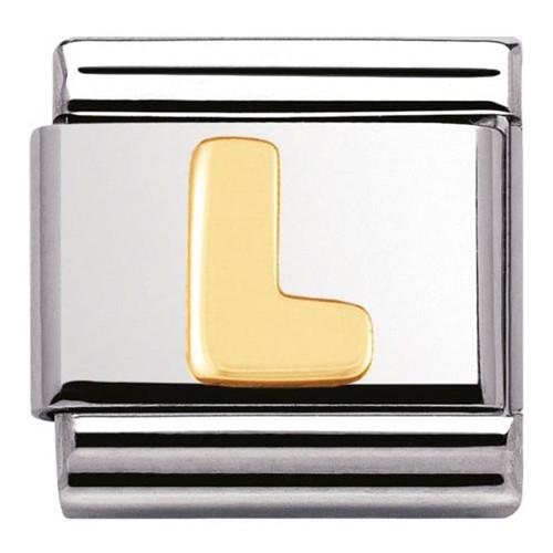 Maillon Nomination classic Lettre L standard Or