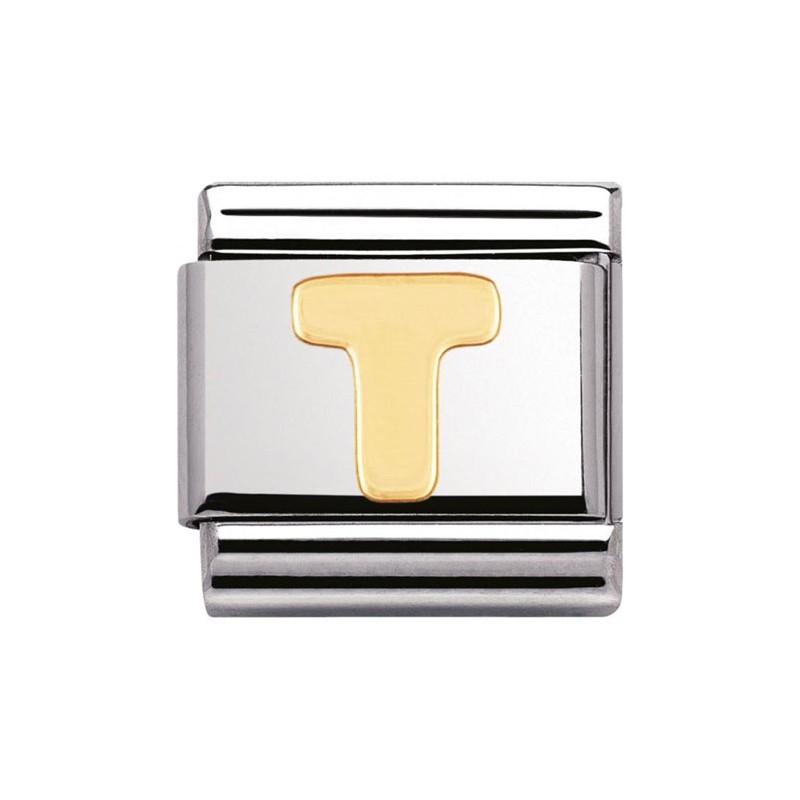Maillon Nomination classic Lettre T standard Or