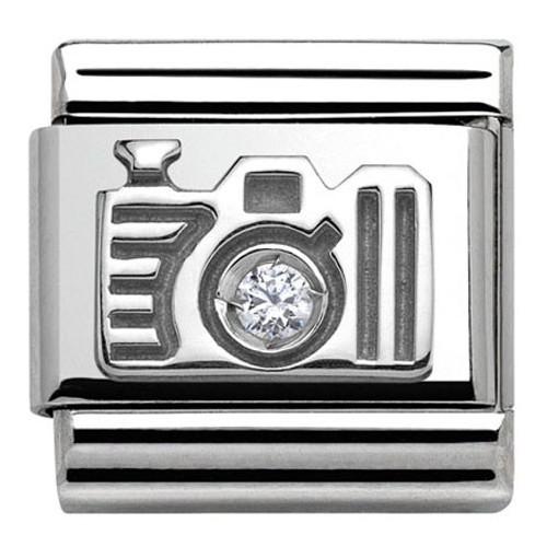 Maillon Nomination classic Argent appareil photo