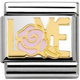 Maillon Nomination classic Love avec rose