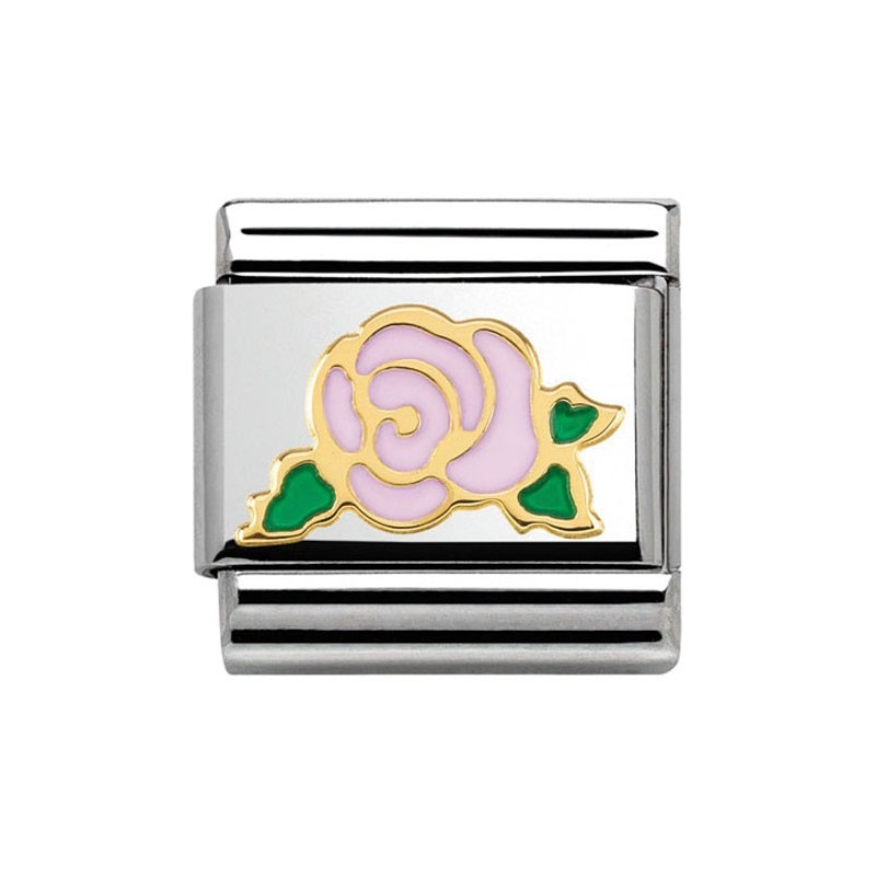 Maillon Nomination classic rose rose en Or