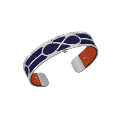 Bracelet femme Georgettes infini finition Argent et cuir reversible