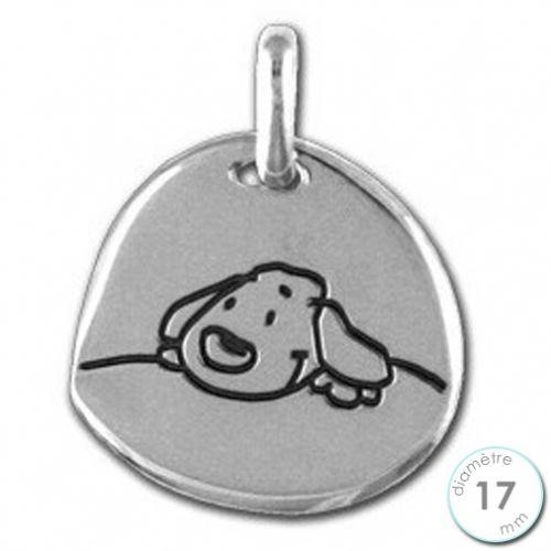 Médaille Laïque Doudou The Dog en Argent