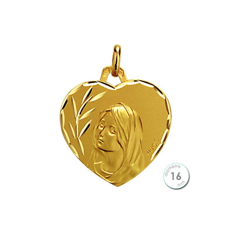 Médaille de baptême Vierge en Or - Augis