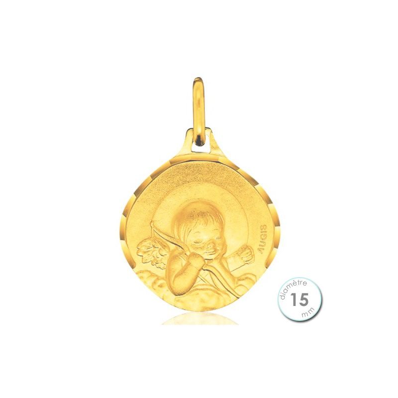 b400058d7 Médaille de baptême Ange en Or - Augis