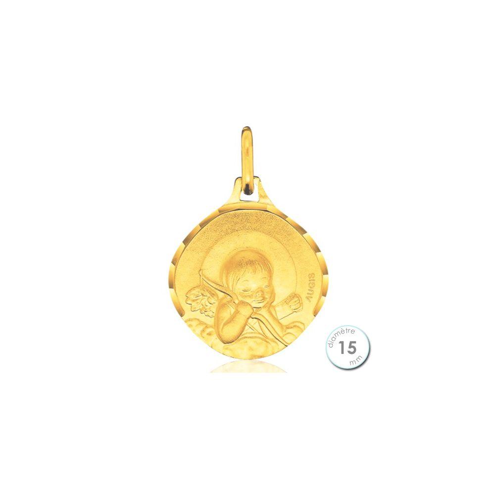 medaille bapteme ange fille