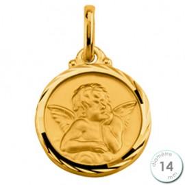 Médaille de baptême St Christophe en Plaqué Or