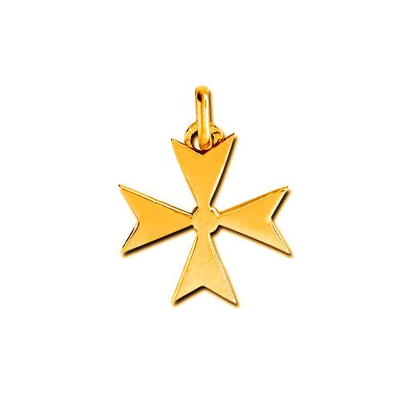 Pendentif croix de Malte Or jaune