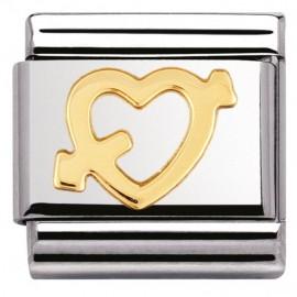 Maillon Nomination classic Coeur Or avec flèche