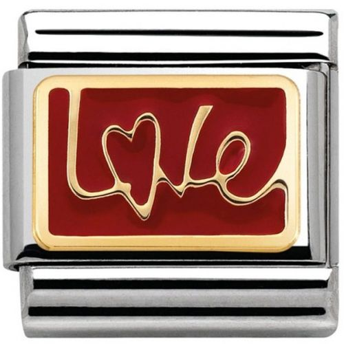 Maillon Nomination classic message love rouge