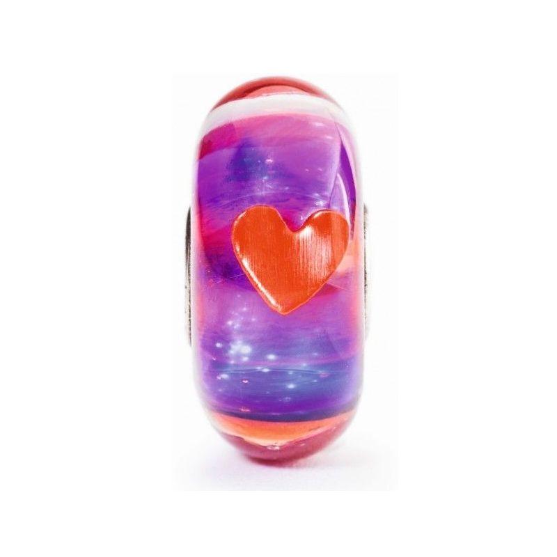Perle en verre Trollbeads spéciale Saint Valentin