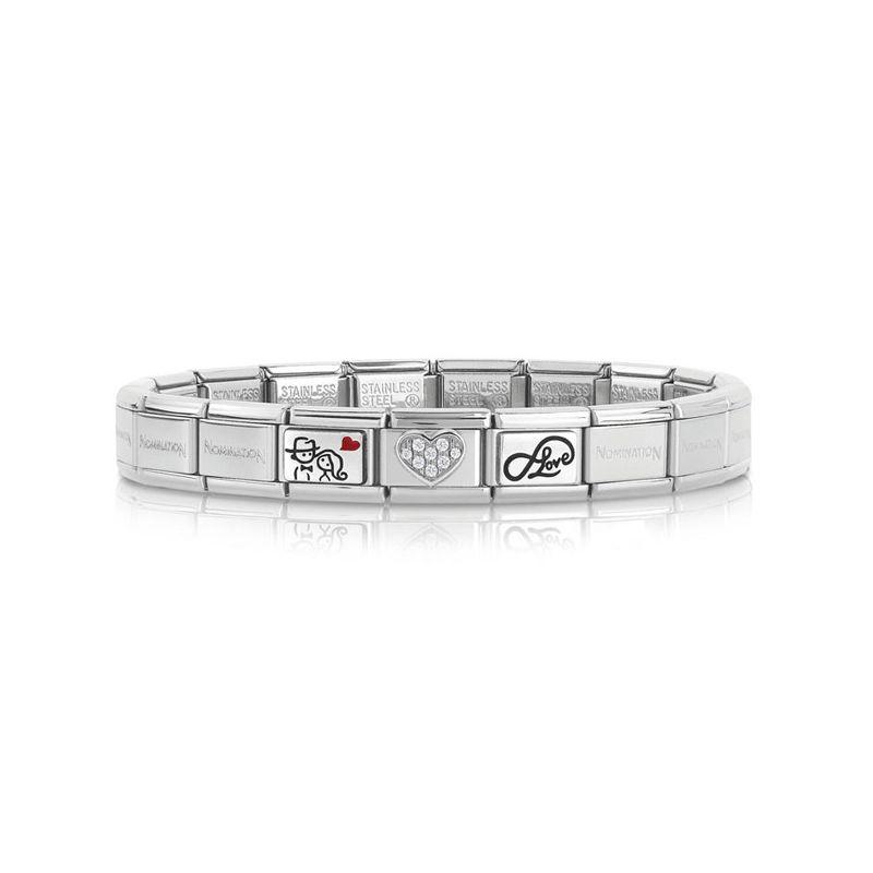 Bracelet Nomination base Acier spécial couple amoureux