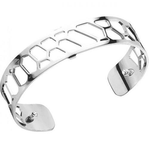 Bracelet manchette Les Georgettes motif nid d'abeille finition Argent small