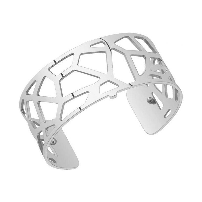 Bracelet manchette Les Georgettes motif girafe finition Argent medium