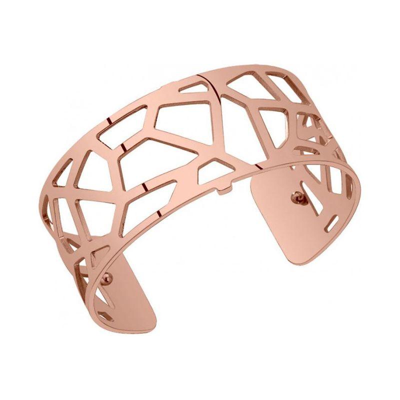 Bracelet manchette Les Georgettes motif girafe finition Or rose medium