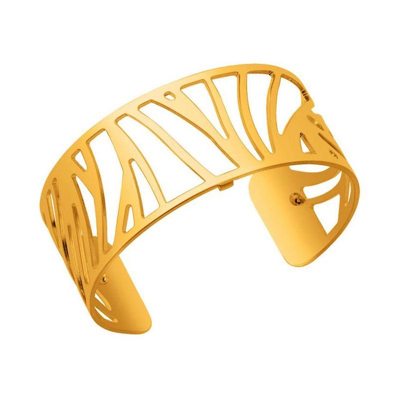 Bracelet manchette Les Georgettes motif perroquet finition Or jaune medium