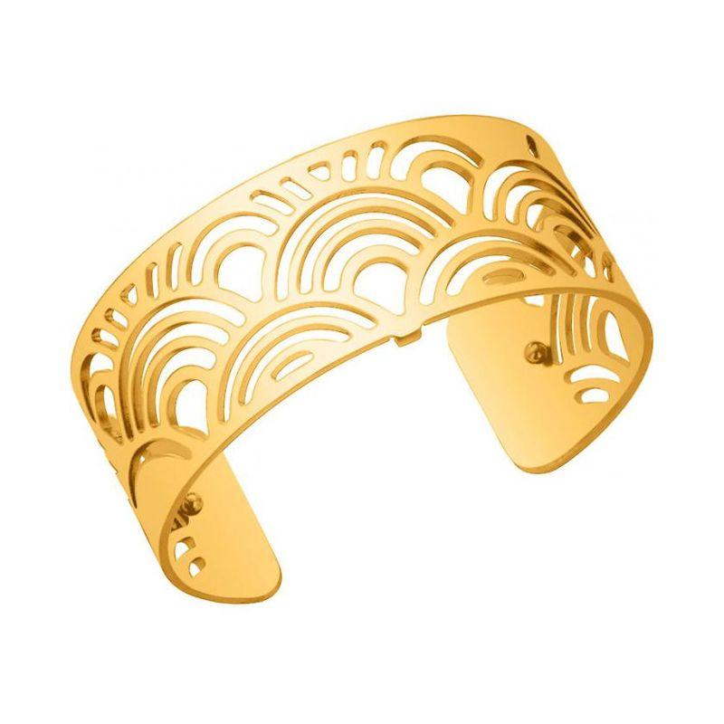 Bracelet manchette Les Georgettes motif poissons finition Or jaune medium