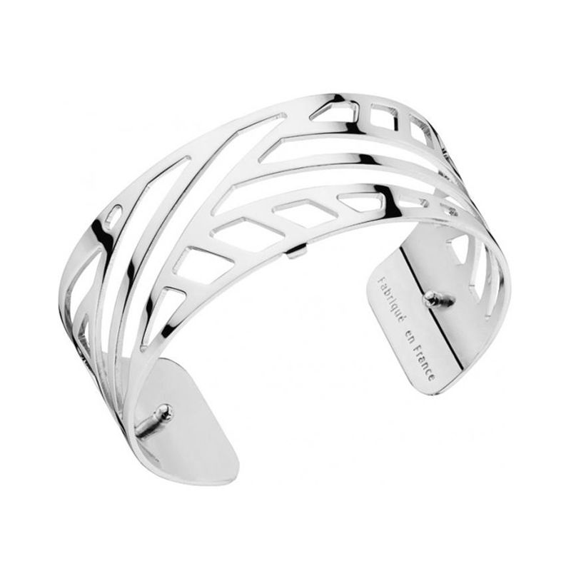 Bracelet manchette Les Georgettes motif ruban finition Argent medium