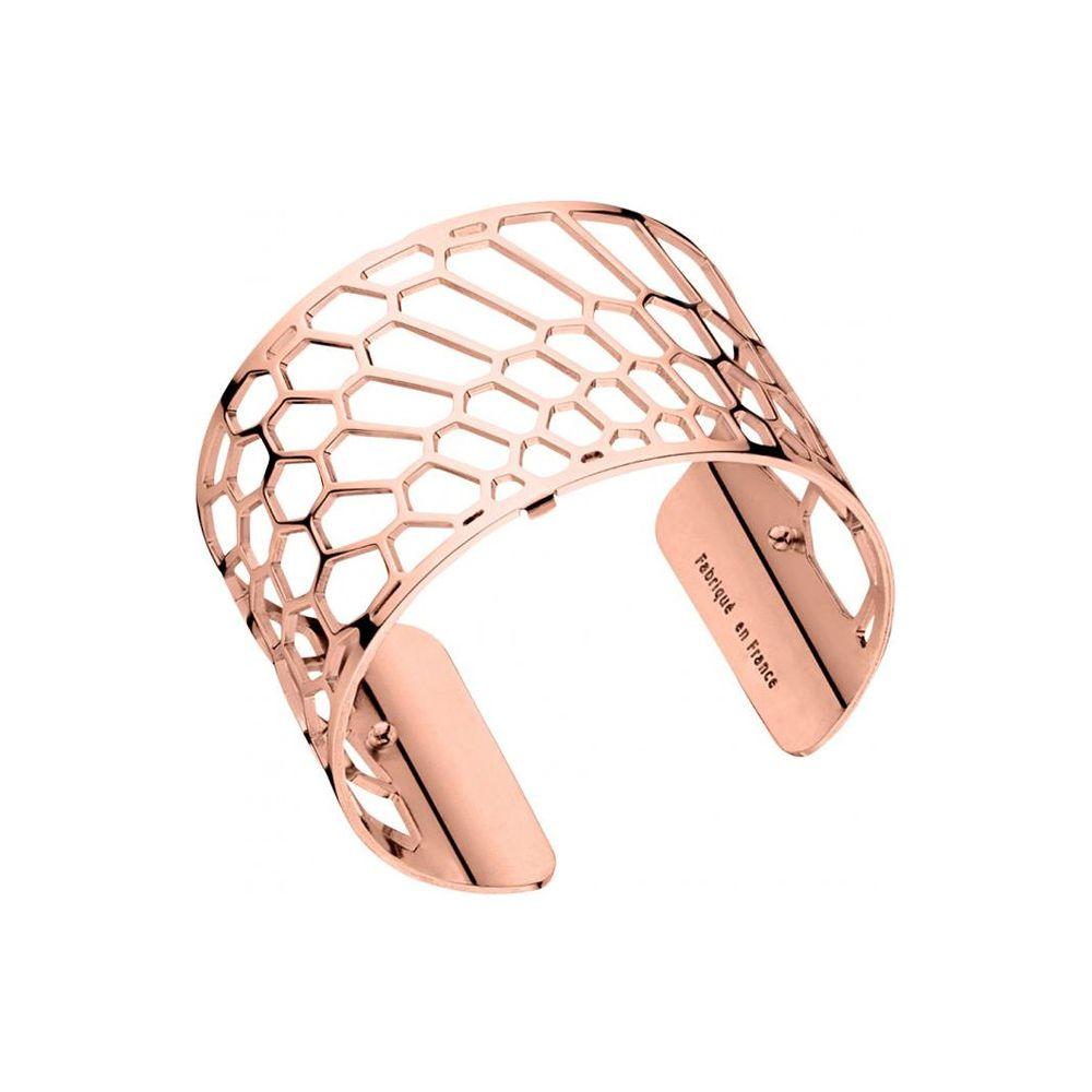 4fec9532b776 Bracelet manchette Les Georgettes motif nid d abeille finition Or rose large