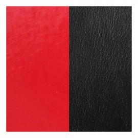 Cuir reversible les Georgettes rouge vernis/noir