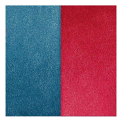 Cuir reversible les Georgettes bleu/framboise