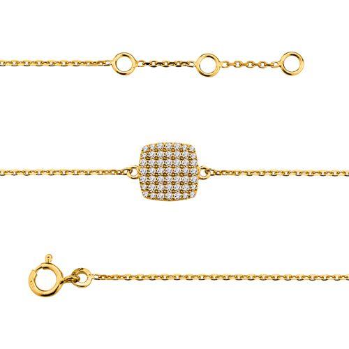 Bracelet Plaqué Or et oxyde de zirconium