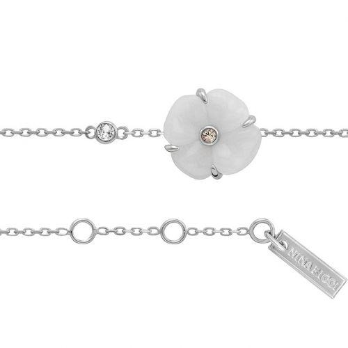 Bracelet Nina Ricci Argent, résine et oxyde de zirconium
