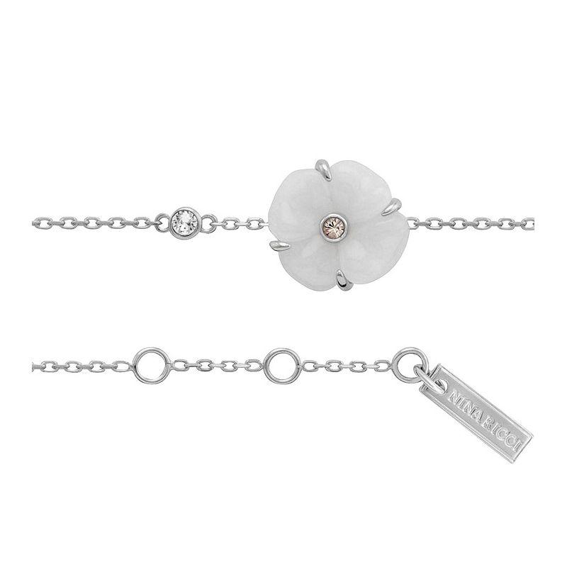 Bracelet Nina Ricci fleur Argent