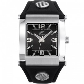 Montre homme All Blacks bracelet cuir noir