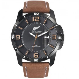 Montre homme All Blacks bracelet cuir marron