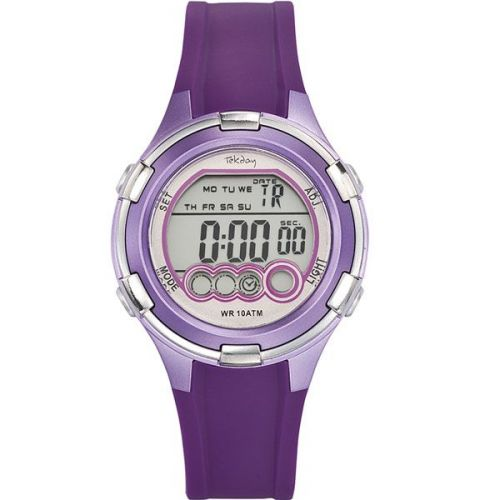 Montre enfant Tekday digitale violette