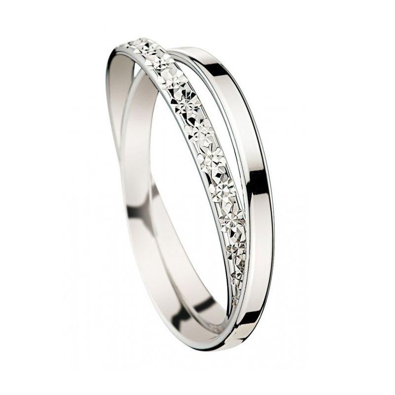 Alliance de mariage Or blanc double anneaux inséparables - 07030878 fd5c3ad8da60