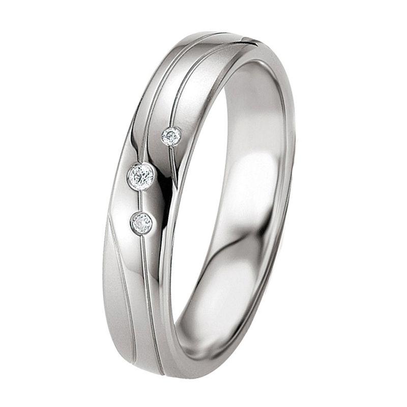 Alliance De Mariage Argent Et Diamant 13774262