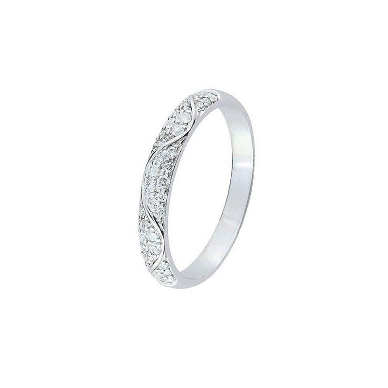 Alliance De Mariage Or Blanc Et Diamant 11775042