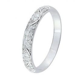 Alliance de mariage Or blanc et Diamant
