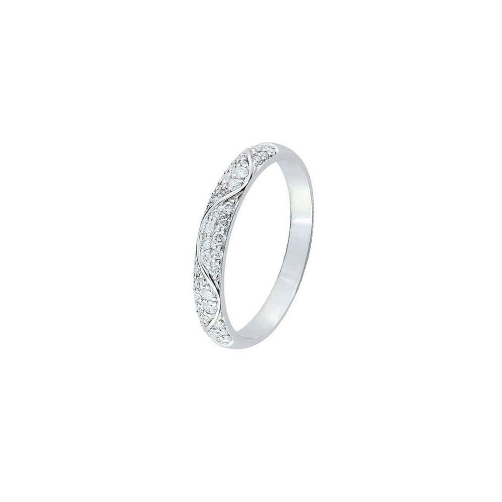 design de qualité 95003 3a7b1 Alliance de mariage Or blanc et Diamant - 11775042