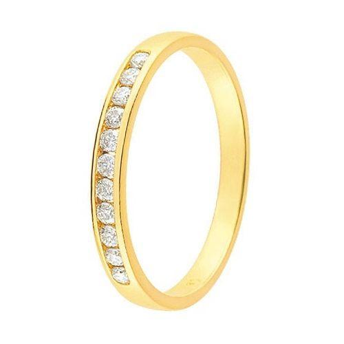 Alliance de mariage Or jaune et Diamant