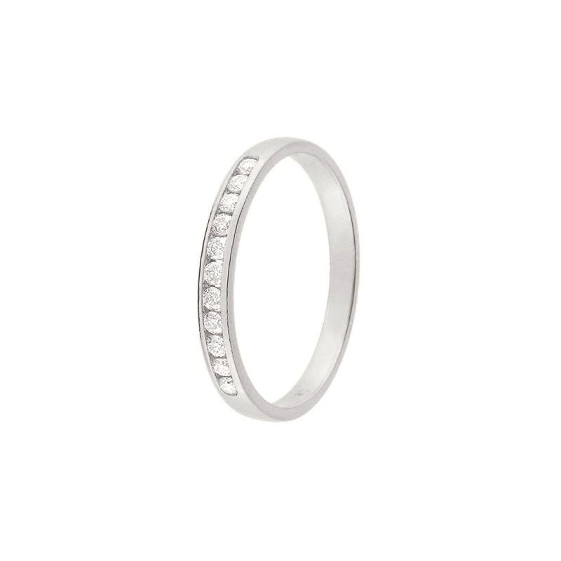 Alliance De Mariage Or Blanc Et Diamant 11775041