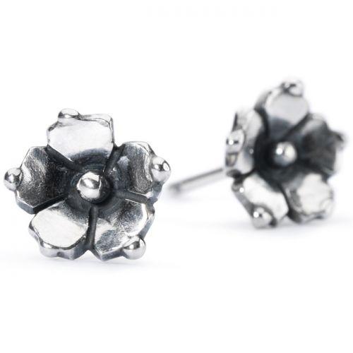 Boucles d'oreilles Trollbeads Argent Jasmin de caroline puces