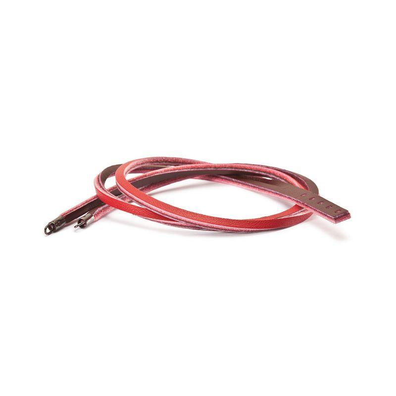 Bracelet cuir Trollbeads rouge/bordeaux