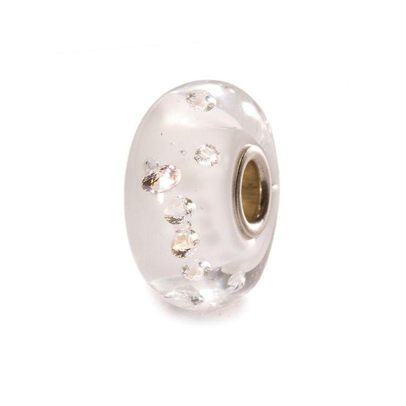 Perle en verre diamond-like blanc Trollbeads