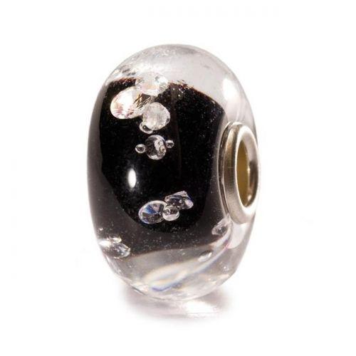 Perle en verre diamond-like noir Trollbeads