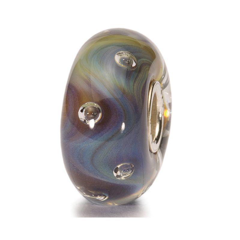 Perle en verre bulles azurées Trollbeads