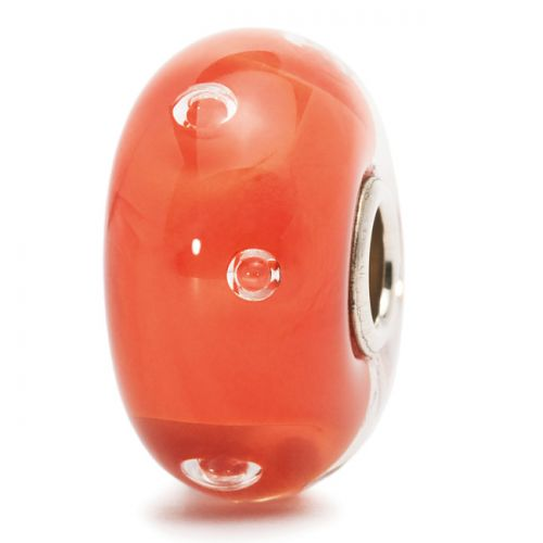 Perle en verre bulles de pêche Trollbeads