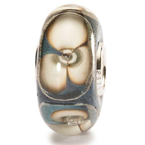 Perle en verre fleurs de pierre Trollbeads