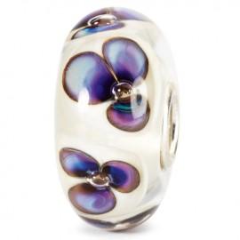 Perle en verre violettes ivoire Trollbeads