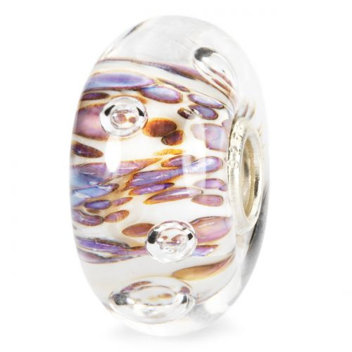 Perle en verre bulles aux ondulations violettes Trollbeads