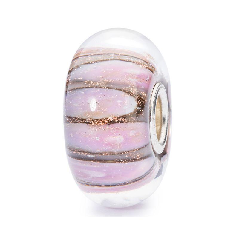 Perle en verre conque rose Trollbeads