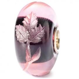 Perle en verre fuchsia gravé Trollbeads