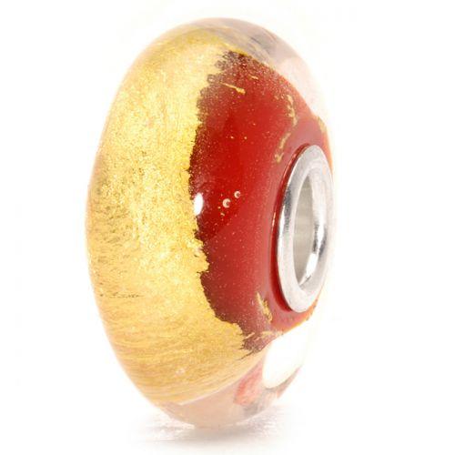 Perle en verre chakra racine Trollbeads